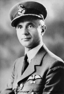 Col. Rosík in the uniform of the Royal Air Force