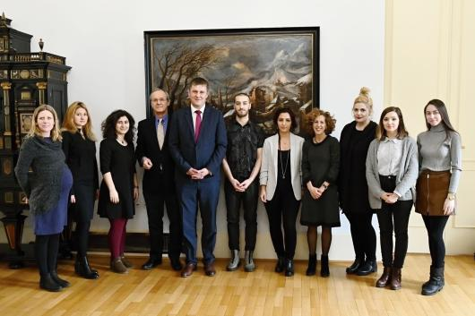 Minister Petříček received the group of fellows of the Radio Free Europe´s Programs for young journalists